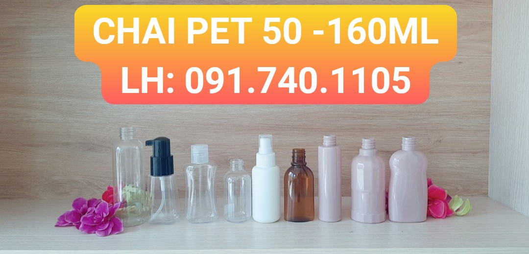 Chai nhựa PET 50ml 100ml 160ml